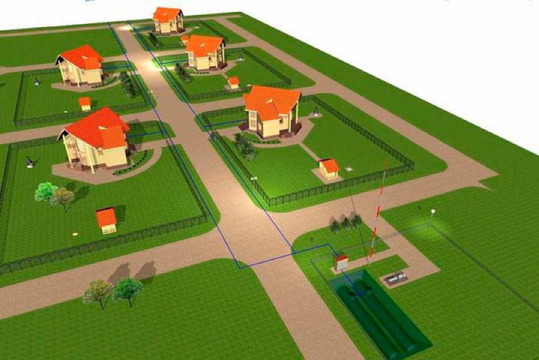 Подключение газа коттеджный поселок