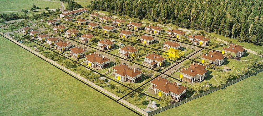 Газификация дачных и коттеджных поселков: цена, под ключ